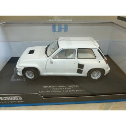 RENAULT 5 TURBO Alll White UNIVERSAL HOBBIES 4547 1:18