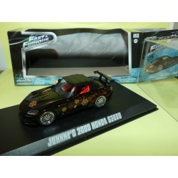 HONDA S2000 JOHNNY'S 2000 FAST AND FURIOUS GREENLIGHT 86205 1:43