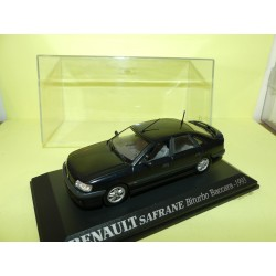 RENAULT SAFRANE BITURBO BACCARA 1993 Bleu UNIVERSAL HOBBIES Collection M6 1:43
