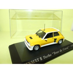 RENAULT 5 TURBO TOUR DE CORSE 1983 Jaune UNIVERSAL HOBBIES Collection M6 1:43
