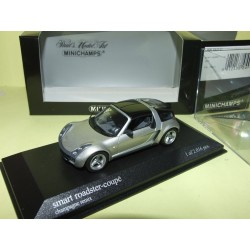 SMART ROADSTER COUPE 2003 Gris Champagne Remix MINICHAMPS 1:43