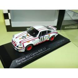 PORSCHE 911 CARRERA RS 2.8 N°45 LE MANS 1973 MINICHAMPS 1:43 Arrivée 8ème 1er Cl