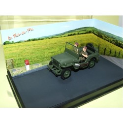JEEP WILLYS Manoeuvre militaire ALTAYA N7 Route Bleu 1:43